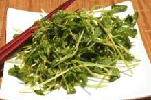 Pea shoots salad