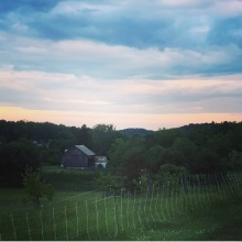 Blackberry Meadows Farm at dusk.